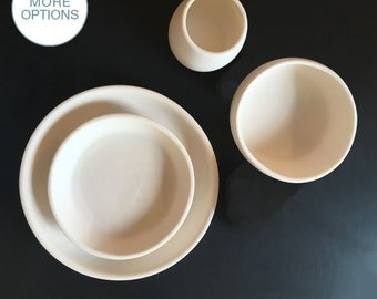 Matte Porcelain USA Made Coupe Dinnerware Set