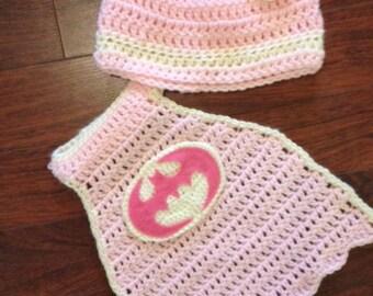 Batgirl crochet pattern (0-3 Months, instant download)