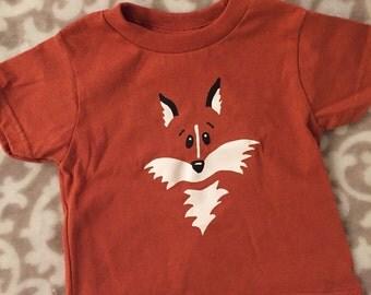 Renard Tshirt, Fox chemise, chemise Orange Fox, Fox chemise pour enfants