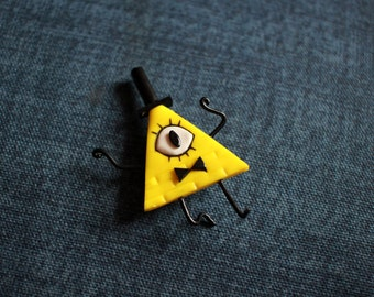 Bill Cipher, Brooch, Gravity Falls Inspired