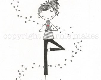 Love Yoga - giclee print