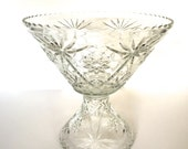 Super huge cut glass bowl / Pedestal
