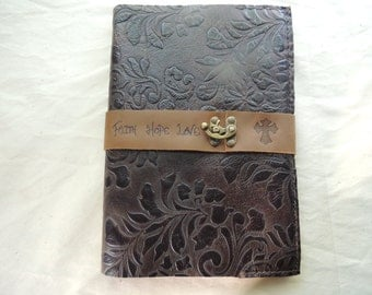 Handmade leather cover for the Catholic Planner