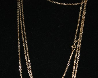 "Amazing 118"" Trifari Gold Tone Chain, Vintage"