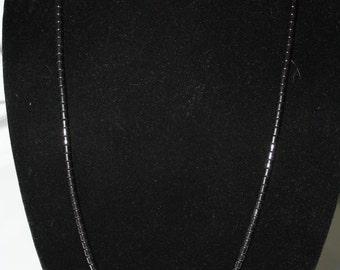 Hematite Strand Necklace, Vintage
