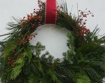 Fresh Cedar and Balsam Holiday Wreath