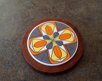 Mid Century Tile Serving Tray
