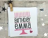 Birthday Cake Card - Personalised card - baking lovers card - birthday card for her - best friends card - personalized birthday card - uk