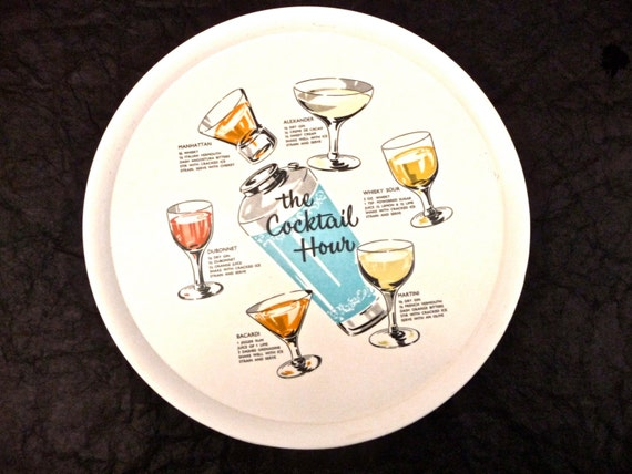 Ornamin Cocktail Tray from Etsy