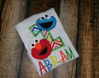 Sesame Street Themed Birthday Shirt