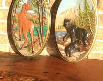 Vintage Deer and Bear Art