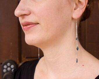 Sterling Silver and London Blue Topaz Dangle Earrings
