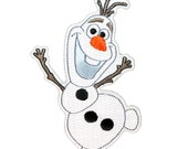Olaf Snowman Patch Frozen Disney Character Movie Craft Apparel Iron-On Applique