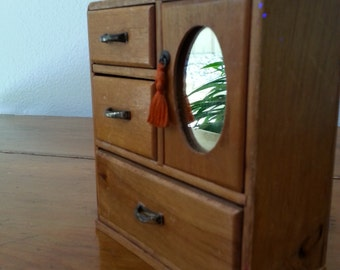 Midcentury Doll House WARDROBE with Mirror