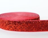 "5Yd Red 5/8"" Sparkle Ribbon"