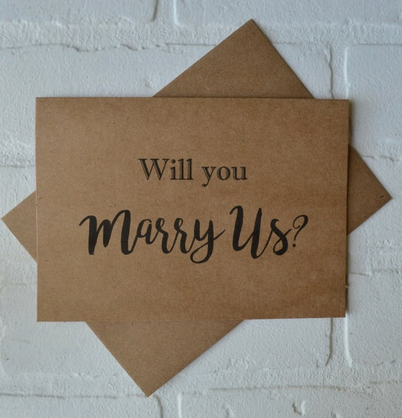 WILL you MARRY us priest deacon card marry us card will you be our officiant kraft card wedding card officiant cards marrying us