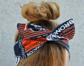 Denver Broncos, Headband, NFL Dolly bow head bands, head band, hair bow