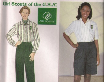 Simplicity Sewing Pattern 7778 - Misses'/Women's Girl Scouts® Shirt, Pants, and Shorts (20w-28w)