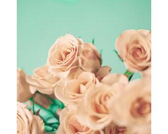Valentines gift, flower print, flower photography, canvas art, large art, large wall art, girl nursery decor, rose print, girly wall art