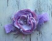 Baby Girl Headband- Matilda Jane Headband- Purple Lace Headbands- Baby Headbands-Newborn Headband- flower headband