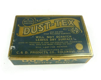Vintage Dust-Tex Metal Tin