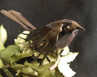 bird gift figurine, Spoon Bird, metal table art, shelf art gift, metal table decor, birdie 2016, gifts under 50, home decor, his mom gift