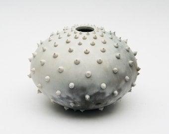 Spiked Ceramic Pot - Sawdust Fired Vessel