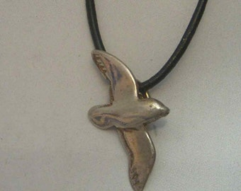 albatross pendant charm amulet sterling silver 925 necklace