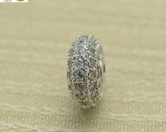 Silver plated beads,rhinestone beads,copper beads 6x12mm