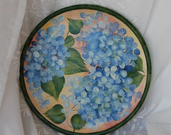 Beautiful Hydrangea Plate