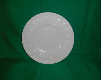 "One (1), 8 1/2"" Salad Plate, from Wedgwood, in the Wellesley D93217 Pattern."