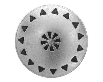 3 Tribal Shield 13/16 inch ( 20 mm ) Metal Buttons Silver Color