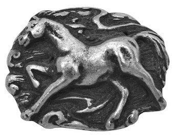 Galloping Horse 1 inch ( 25 mm ) Pewter Metal Button