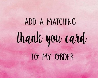 Add a Thank You Card to Your Order