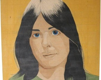 Portrait of a Woman in the Style of Alex Katz