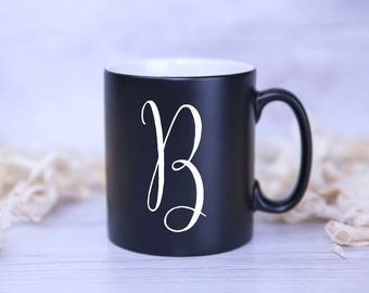 CUSTOM Monogrammed Mug - PERSONALISED with INITIAL