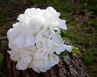 Classy Hydrangea Wedding Bouquet (Great Keepsake Item)