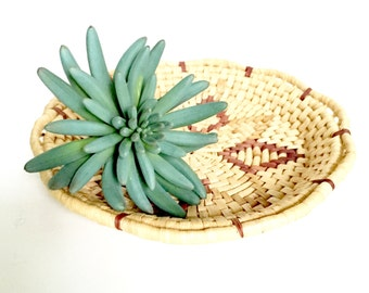 Vintage Wiven Grass Coil Bowl