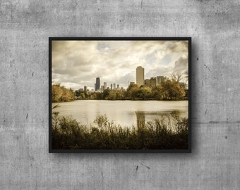 Chicago skyline print - North Pond view photography art print