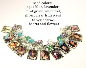 Personalized Family Photo Charm Bracelet, Custom Mother's Day Gift, Mother's Day Gift, Personalized Family Bracelet, Custom Family Pictures