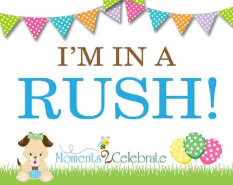 I'M IN A RUSH!!!