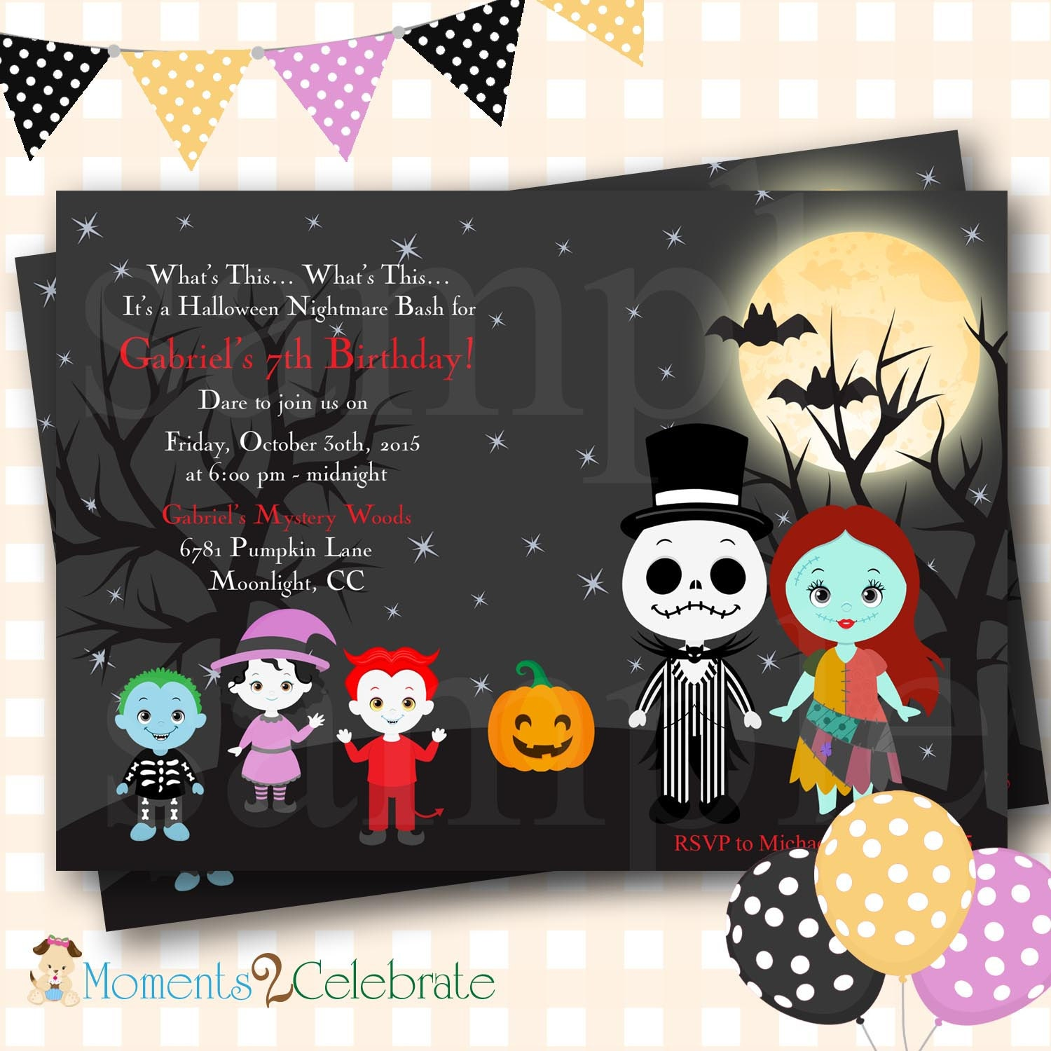 Nightmare Before Christmas Birthday Party: Nightmare Before Christmas Birthday Invitation Jack