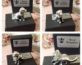 Royal Hampshire silver plated labrador dog. Collectible miniature figurine