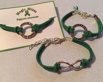 Depression Awareness Bracelet, Green Bracelet Mental Health Awareness, Bipolar  Awareness Bracelet, Green Awareness  Bracelet