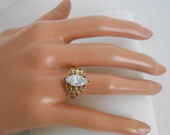 Antique 10K CZ Women ring Size 7