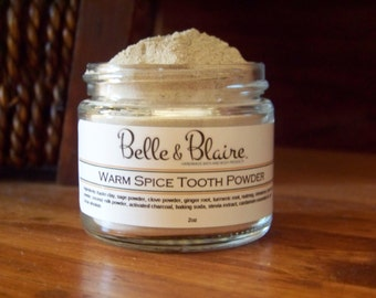 Warm Spice Tooth Powder- Plant Based- Natural- Vegan- 2oz