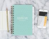 Financial Planner – 12-month Fill-in the Date Planner for saving, budgeting and planning ahead (Mint Blue)