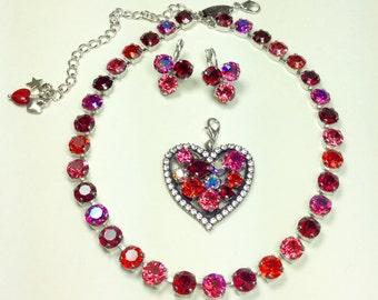 Swarovski Crystal - Designer Inspired - Romantic and Vibrant Valentine's Day Reds