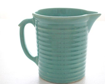 20th Century Pottery Pitcher/Jug by Weller Ware Pottery, Collectible, Beach Decor - ca. 1920s