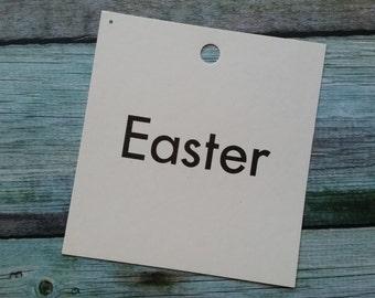 Vintage 1960's Word Flash Card for Peg Board   Easter
